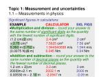 topic 1 measurement and uncertainties 1 1 measurements in physics32