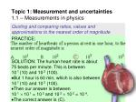 topic 1 measurement and uncertainties 1 1 measurements in physics42