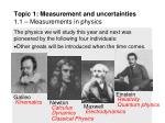 topic 1 measurement and uncertainties 1 1 measurements in physics9