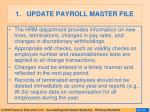 update payroll master file