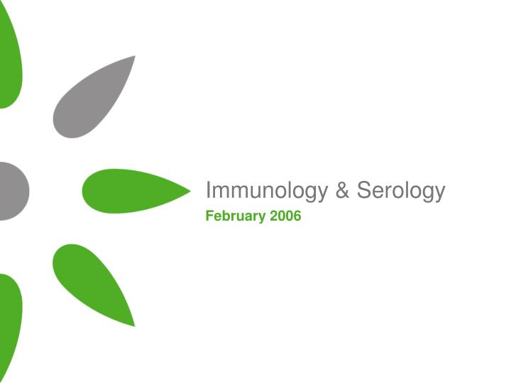 immunology serology n.