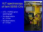 vlt spectroscopy of faint sdss cvs
