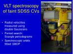 vlt spectroscopy of faint sdss cvs1