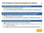 state strategies for advancing integrated care delivery
