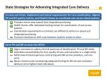 state strategies for advancing integrated care delivery1