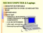 microcomputer laptops