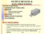 output devices data processing