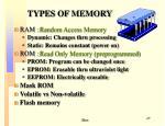 types of memory