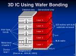 3d ic using wafer bonding