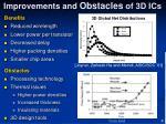 improvements and obstacles of 3d ics