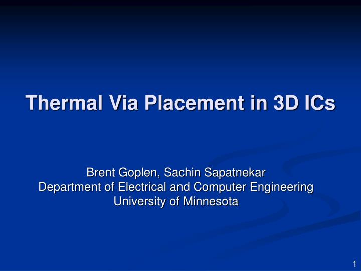 thermal via placement in 3d ics n.