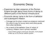 economic decay