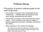 political decay
