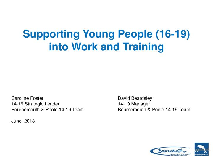 Supporting Young People (16-19)