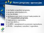 nowe programy operacyjne