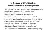1 dialogue and participation social foundations of management