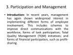 3 participation and management