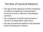 the role of industrial relations