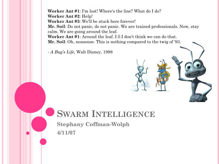 swarm intelligence n.