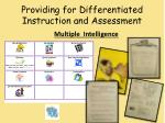providing for differentiated instruction and assessment2