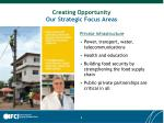 creating opportunity our strategic focus areas1