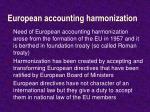 european accounting harmonization