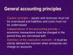 general accounting principles
