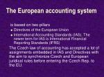 the european accounting system