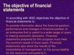 the objective of financial statements