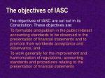 the objectives of iasc
