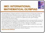 imo international mathematical olympiad