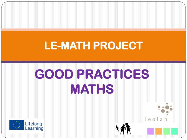 le math project n.