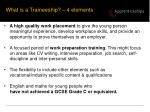 what is a traineeship 4 elements