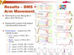 results dms arm movement