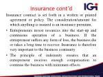 insurance cont d