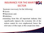 insurance for the maritime sector