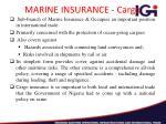 marine insurance cargo
