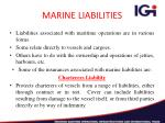 marine liabilities