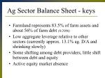 ag sector balance sheet keys