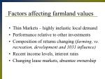 factors affecting farmland values