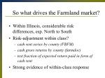so what drives the farmland market