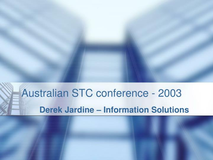 australian stc conference 2003 n.