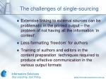 the challenges of single sourcing