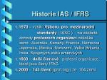 historie ias ifrs