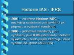 historie ias ifrs1
