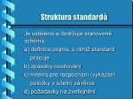 struktura standard