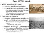 post wwii world