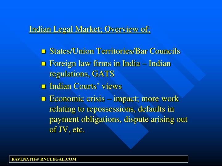 Indian legal market overview of
