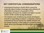 key contextual considerations