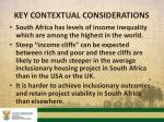 key contextual considerations1